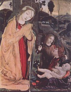 Verrocchio and Leonardo da Vinci (attrib) The Detroit Adoration