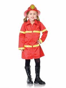Girl Firefighter Theme Set Ruffle Skirt One Piece Fireman Applique Romper and FancyHeadband