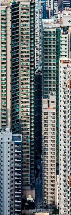 bad land use controls (nonexistent ?) + bottom line (greedy) developers + unimaginative (hack) architects = disaster in Hong Kong