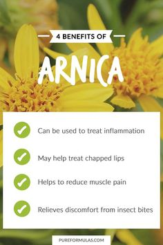 With so many benefits, it's no wonder people turn to Arnica for a homeopathic alternative.