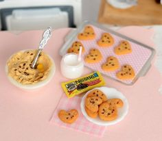 Miniature Chocolate Chip Cookies by CuteinMiniature on Etsy