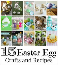 Fun and easy spring and Easter egg crafting and decorating ideas.  Plus, cute and yummy way to make eggs for Easter meals.