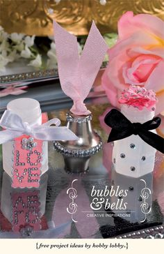 Bubbles are fun for all ages and coordinating your colors and design theme to little bottles will make your wedding day a special one, indeed!