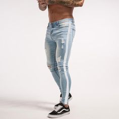 Skinny Jeans For Men Skinny Jeans Ripped Slim Fit For Guys