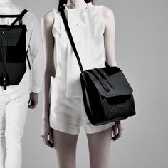 ➖ EUPHORIA ➖  The Euphoria handbag is a double compartment bag made from calf leather with fixed leather and waxed lace shoulder strap. Clear lines, sophisticated construction, outré shape. For women who know what they deserve. • Now available at www.katharinapurkarthofer.com | Link in Bio and in selected stores.