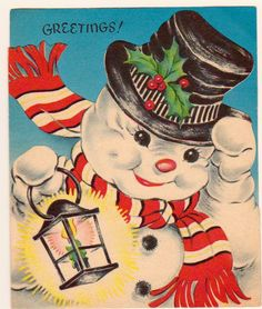 Gorgeous Vintage Greetings Card