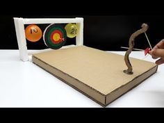 In this video you will see how to make archery game using cardboard. This is really awesome project totally made at home. Homemade Kids Toys, Diy For Kids, Crafts For Kids, Archery Games, Things To Do When Bored, Woodworking Projects For Kids, Diy Games, Cardboard Crafts, Diy Toys