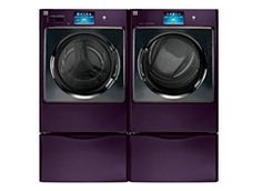 Purple Washer and Dryer