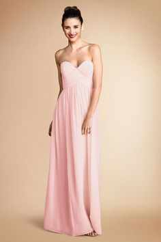 Donna Morgan Silk Chiffon bridesmaid dress in pink. Our Bridesmaid dresses that I am in LOVE with! Blush Bridesmaid Dresses, Wedding Bridesmaids, Wedding Dresses, Silk Chiffon, Chiffon Dress, Blush Bridal, Wedding Inspiration, Wedding Ideas, Wedding Styles