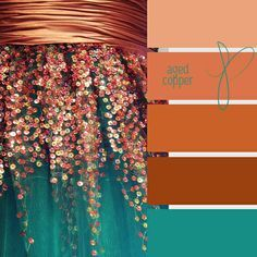 aged copper ❤ LOVE this mix!! That is my master bedroom colour inspiration. | c o l o r • p a l e t t e s | Copper, Shades and Bedroom C…