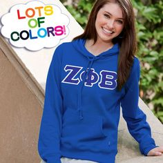Zeta Phi Beta Ladies' Enza Pullover Hoodie $40.95 #Greek #Sorority #Clothing #Zeta #ZetaPhiBeta