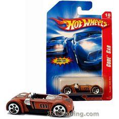 Hot Wheels Year 2006 Code Car Series 1:64 Scale Die Cast Car Set #18 - Copper Color Convertible Sports Coupe SUZUKI GSX-R/4 K7653