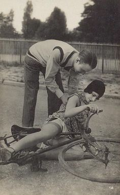 Erotica 1920's style, so falling off your bike in the 1920s was sexy?