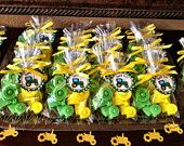 TRACTOR SOAP FAVORS (20 Soaps) - John Deere Inspired Birthday, Tractor Baby Shower, Construction Birthday. $20.00, via Etsy.