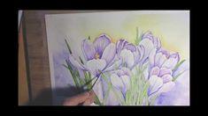 Crocuses in Watercolor - Painting Process
