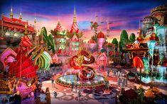 DIEATTACK designs Evergrande Fairytale World theme park Brilliant China zone dragon