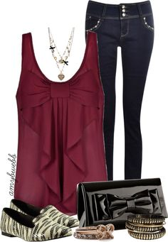 """Bow Top Combo"" by amybwebb on Polyvore"