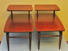 Danish Modern Side Tables Pair - Mid Century Modern Table - MCM Table, Danish Modern Furniture, Mid Century Decor, Retro Occasional Table on Etsy, $241.69
