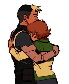 Pidge and Shiro hugging from Voltron Legendary Defender