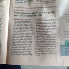 #Belasting betalen behoort tot maatsch. verantwoord ondernemen. @VBDO - Dutch Sustainable Investment Forum en @StichtingOikos in FD, meer hier: http://bit.ly/1mtx6CS