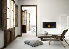 Scandinavian interior with biofireplace DELTA 2