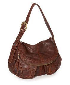 Lucky Brand Handbag, Foldover Pocket Leather Bag - Handbags - Handbags & Accessories - Macy's