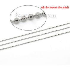 Wholesale 10M Silver Tone Faceted Ball Chain 1.5mm Findings from China Supplier – 8seasons.com