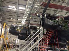 Damaged Lancaster, BBMF hangar