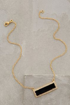 Onyx Bar Necklace anthropologie.com #anthroregistry