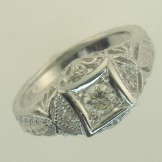 Beautiful Genuine Diamond Ladies Ring 1/3rd Carat In 14kt White Gold Sizes 3-9 from NYJewelz.com for $499.00 on Square Market