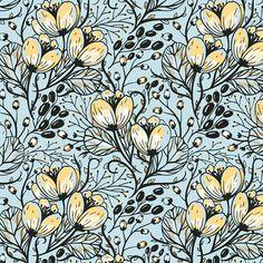 hand drawn vector patterns on Behance - Anna Aniskina