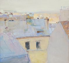 Roofs of Montmartre - Peter Bezrukov , 2013 Oil on canvas, 22 x 24 cm. Abstract Landscape, Landscape Paintings, Abstract Art, Landscapes, Art Themes, Russian Art, Klimt, Oeuvre D'art, Art Boards