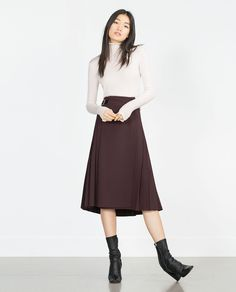 Cute ensemble. SWEATER WITH FRILL NECKLINE from Zara