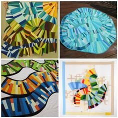 quilts inspired by Sherri Lynn Wood's Mod Mood quilt...