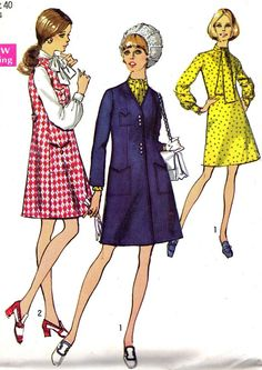 Vintage Sewing Pattern 1960s Simplicity 8651 Mod by paneenjerez, $14.00