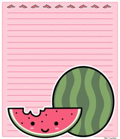 Another watermelon stationary by PinkNyu.deviantart.com on @deviantART