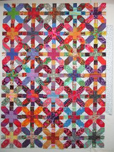 Exuberant Color : Now it is really the final layout. Bright Quilts, Colorful Quilts, White Quilts, Flannel Quilts, Scrappy Quilts, Quilting Blogs, Quilting Designs, Quilting Patterns, Quilting Ideas