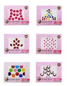 Buy Multi Colour Plain Bindis Set |Mixed Sized Round Shape|Chandrakor Bindis Set For Women Online | Anuradha Art Jewellery Jewelry Art, Jewellery, Richie Rich, Bindi, Shapes, Colour, Design, Women, Color