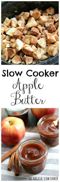 I had no idea how easy it would be to make Slow Cooker Apple Butter! Yes there is a bit of peeling and chopping, but with the slow cooker there is no watching a Slow Cooker Apples, Crock Pot Slow Cooker, Crock Pot Cooking, Slow Cooker Recipes, Apple Recipes, Fall Recipes, Healthy Recipes, Apple Desserts, Dips