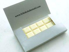 Schokoladenverpackung-Vorlage zum Ausdrucken bei Schokoladentafel.com. Schokoladenrezepte, Produkttests und mehr.