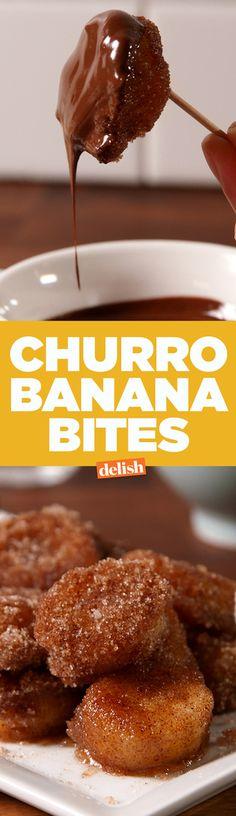Churro Banana Bites  - Delish.com