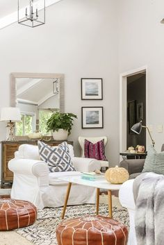 From plush pillows in seasonal hues to soft and cozy textures to tons of dried florals (yes, pampas grass is still a thing!), we've got all of your fall decorating needs covered. #hunkerhome #falldecor #falldecorideas #falldecorinspo #falldecorations Bohemian Room, Boho Living Room, Living Room Sets, Living Spaces, Farmhouse Mantel, Modern Farmhouse Decor, Plush Area Rugs, Decorative Pillow Covers, Autumn Home