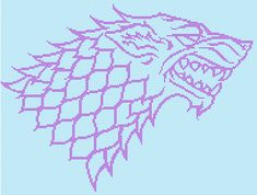 """Winter is coming,"" so knit up something warm with a Direwolf sigil on it."