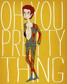 Oh You Pretty Thing - 8 x 10 Illustration Print. $16.00, via Etsy. (Nan Lawson)