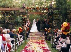 An outdoor wedding is a must!
