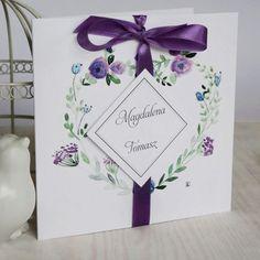 Zaproszenie ślubne - kolekcja satynowa - serduszko