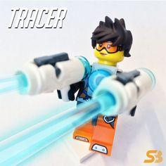 Lego® Overwatch Tracer Custom Minifigure | eBay