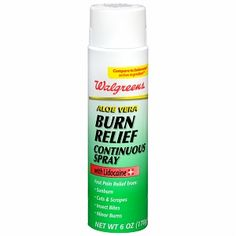 I'm learning all about Walgreens Aloe Vera Burn Relief Continuous Spray at @Influenster!