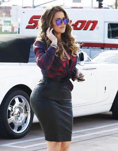 December 15, 2014 - Khloe Kardashian filming 'Keeping Up with the Kardashians' in Calabasas.