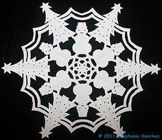 Cut Paper Snowflake More
